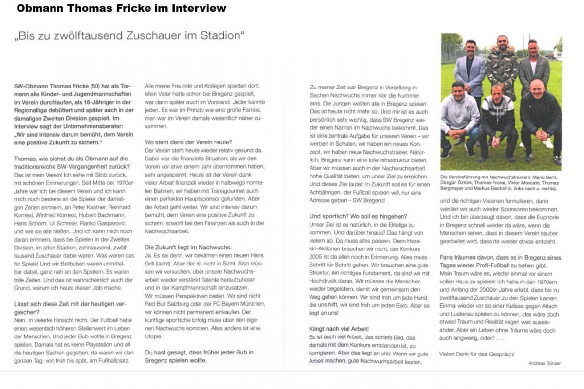 Interview Thomas Fricke